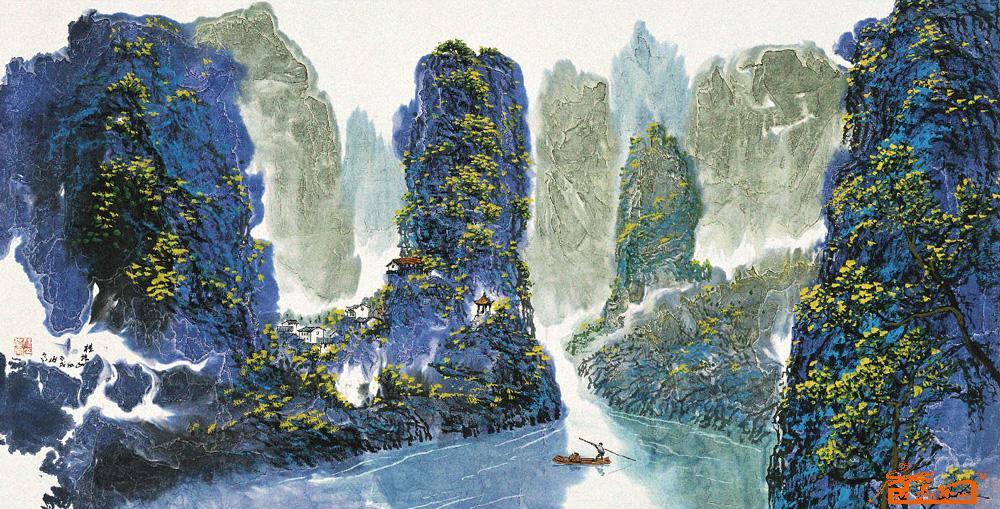 桂林山水-姚伯齐-淘宝-名人字画-中国书画服务中心